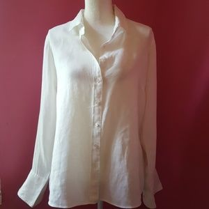 J. Crew White Linen Shirt